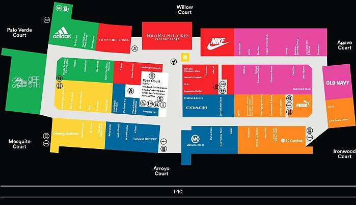 Map of Desert Hills Premium Outlets