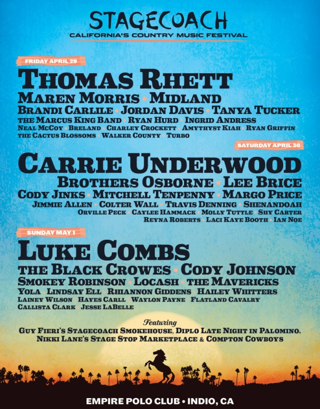 Stagecoach Festival 2022 Lineup