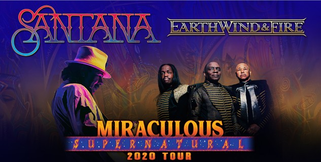 Santana and Earth, Wind & Fire in Los Angeles at Banc of California Stadium 6/18/22. Buy Tickets HERE on PalmSprings.com