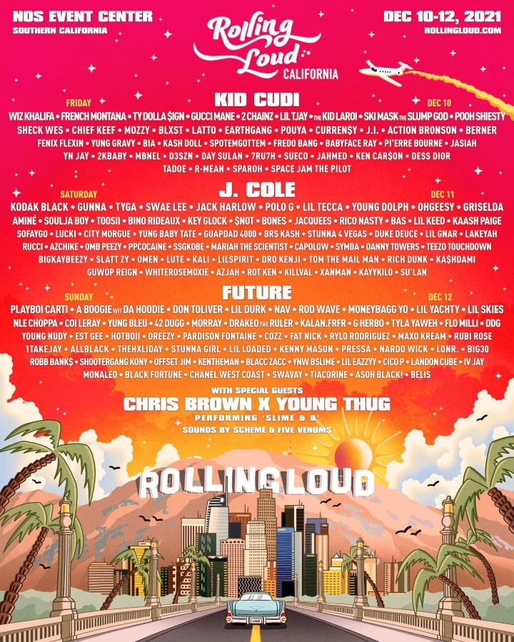 Rolling Loud San Bernardino / Los Angeles, Southern California 2021 Lineup & Tickets!